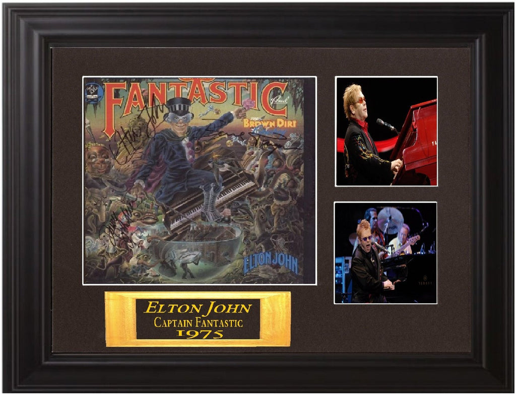 "Elton John Autographed Lp ""Captain Fantastic"" - Zion Graphic Collectibles"