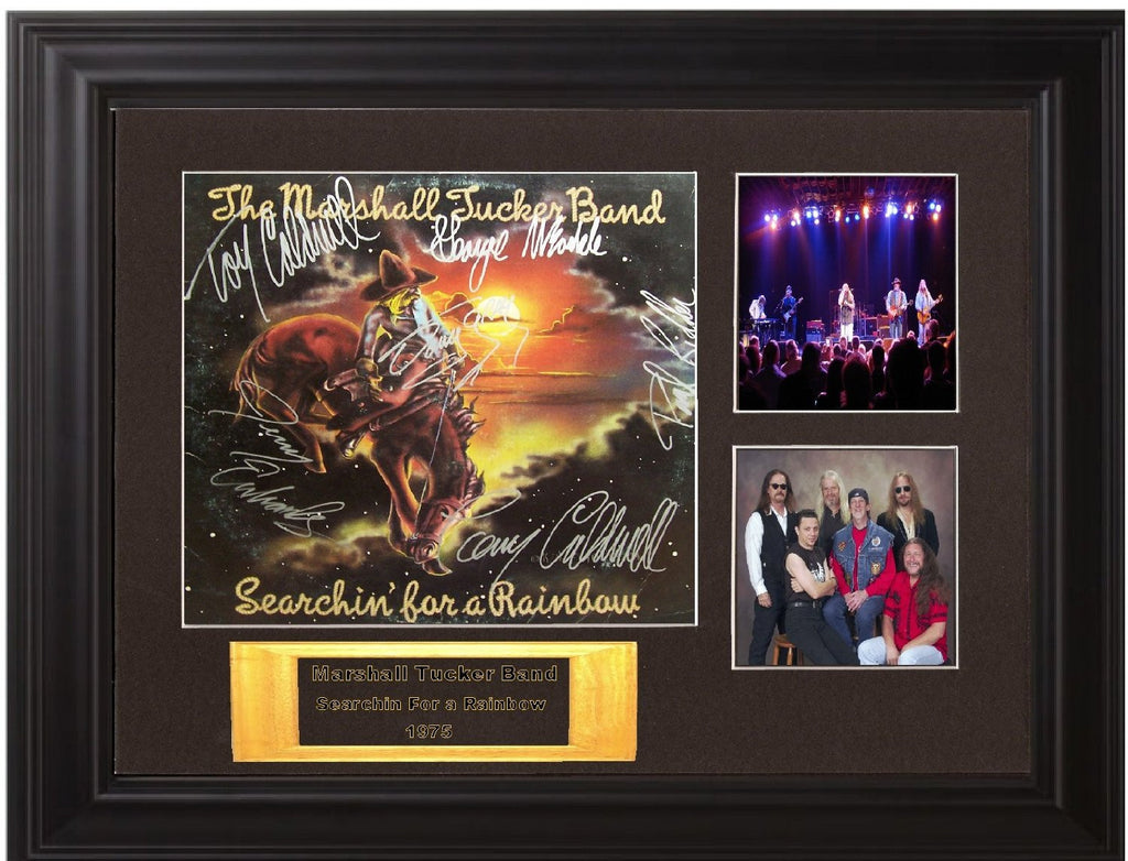 Marshall Tucker Band Autographed lp - Zion Graphic Collectibles