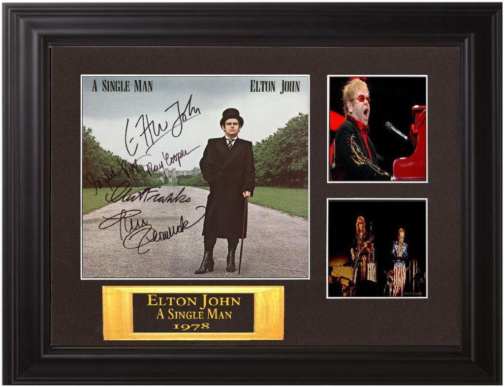 "Elton John Autographed Lp ""A Single Man"" - Zion Graphic Collectibles"