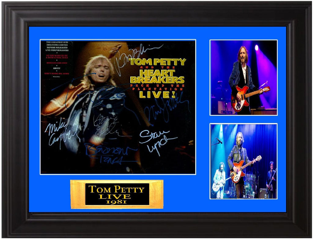 Tom Petty and the Heartbreakers Band Signed Pack up the Plantation Live Album - Zion Graphic Collectibles
