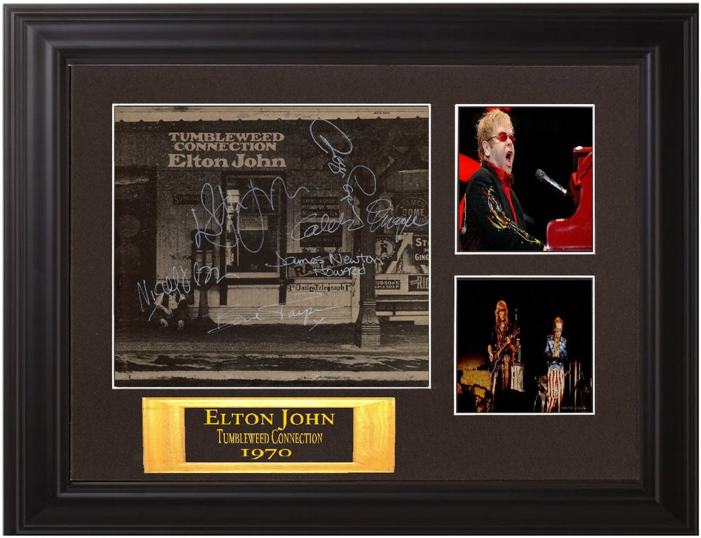 Elton John Autographed Lp tumbleweed connection - Zion Graphic Collectibles
