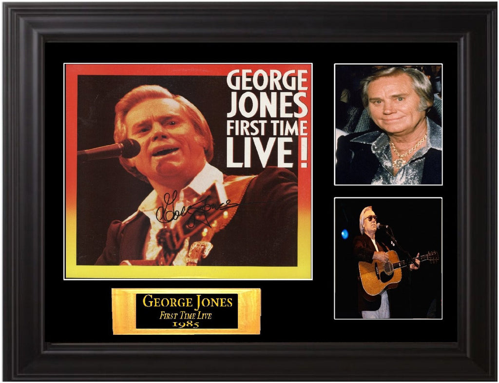George Jones Autographed Lp - Zion Graphic Collectibles