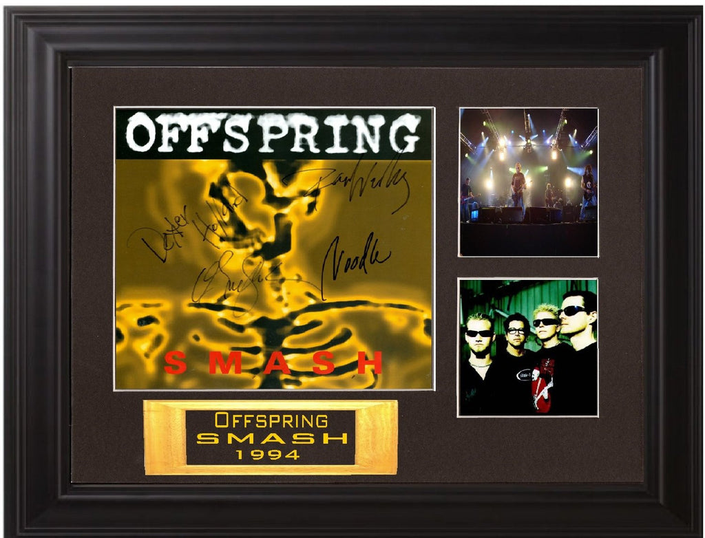 Offspring Band Autographed Lp - Zion Graphic Collectibles
