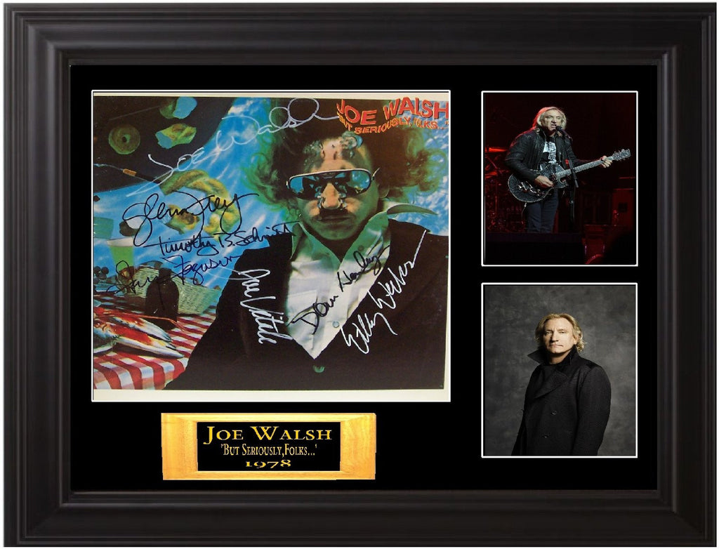 Joe Walsh Band( The Eagles) Signed but Seriously Folks Album - Zion Graphic Collectibles