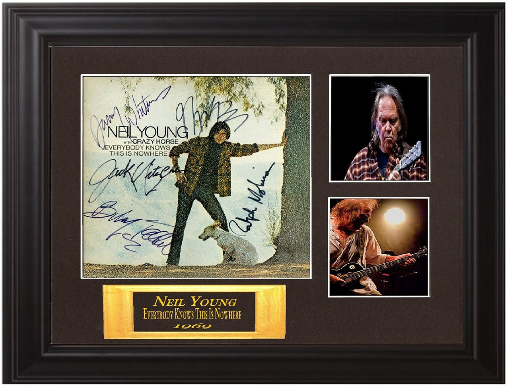Neil Young Crazy Horse Band Autographed - Zion Graphic Collectibles