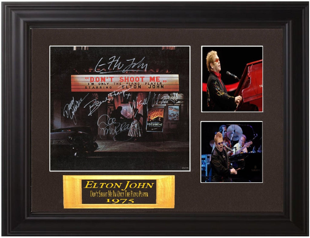 "Elton John Autographed Lp ""Don't Shoot Me I'm Only the Piano Player"""