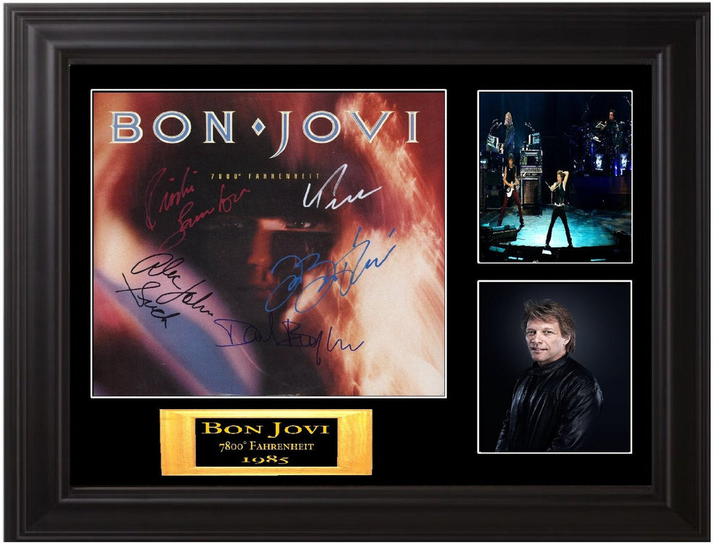 "Bon Jovi Band Autographed Lp ""7800° Fahrenheit"" - Zion Graphic Collectibles"
