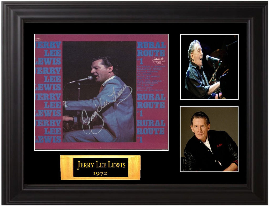 Jerry Lee Lewis Autographed LP - Zion Graphic Collectibles