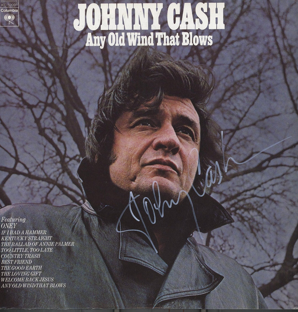 Johnny Cash Autographed Album - Zion Graphic Collectibles