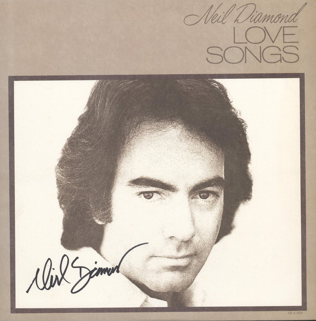 Neil Diamond Autographed Lp - Zion Graphic Collectibles