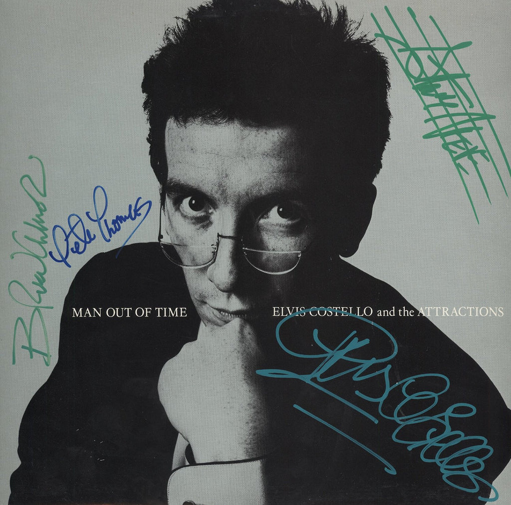 Elvis Costello and the Attractions Autographed Lp