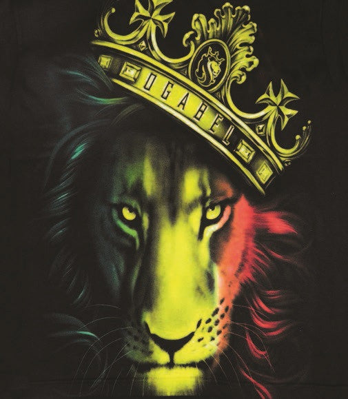 fierce rasta lion and crown black hoodie women s zion graphic