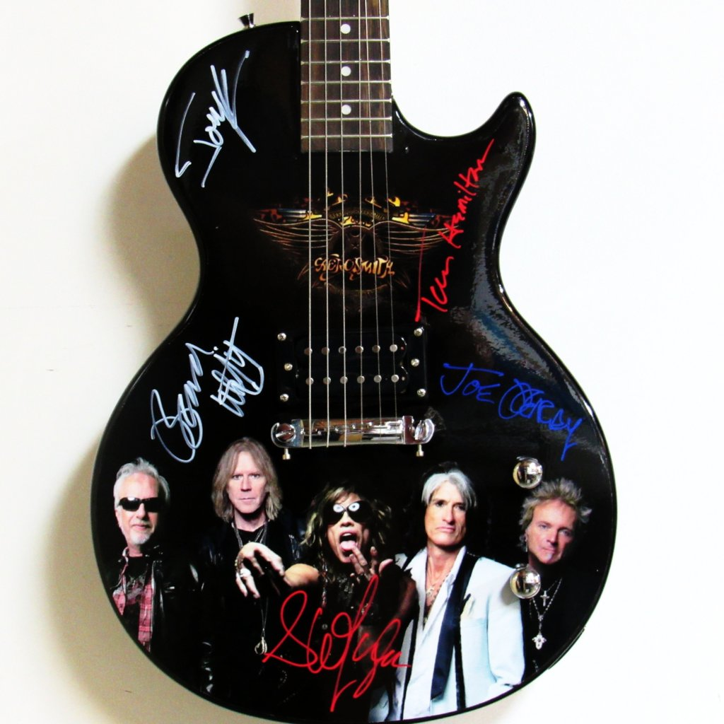 Aerosmith Autographed Guitar - Zion Graphic Collectibles