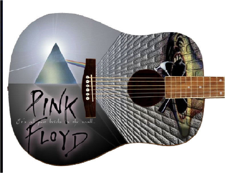 Pink Floyd Custom Guitar - Zion Graphic Collectibles