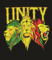 Unity Lions Black T-Shirt - Men's Sizes - Zion Graphic Collectibles
