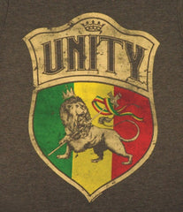 Unity & Lion of Judah Shield Heather Brown T-Shirt - Men's  - Zion Graphic Collectibles