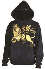 Conquering Lion of Judah Black Hoodie - Men's  - Zion Graphic Collectibles