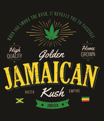 Golden Jamaican Strain Black T-Shirt – Men's