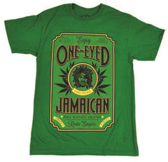 One-Eyed Jamaican Strain Green T-Shirt