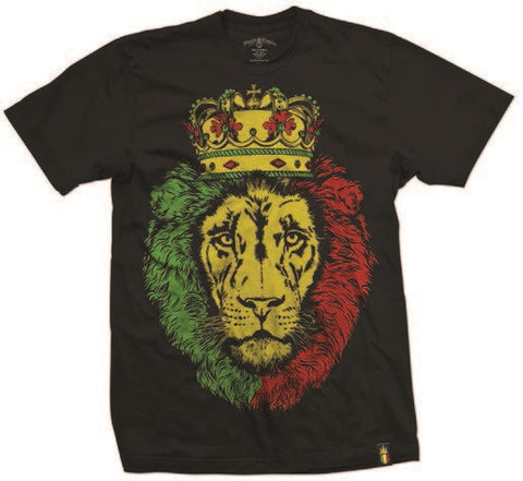 Crowned Lion of Judah Black T-Shirt – Men's
