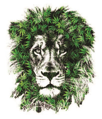 Lion Marijuana Leaves White Tank Top – Men's - Zion Graphic Collectibles