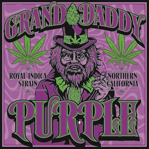 Granddaddy Purple Strain - Blacklight Sticker