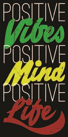 Positive Life Black Sticker