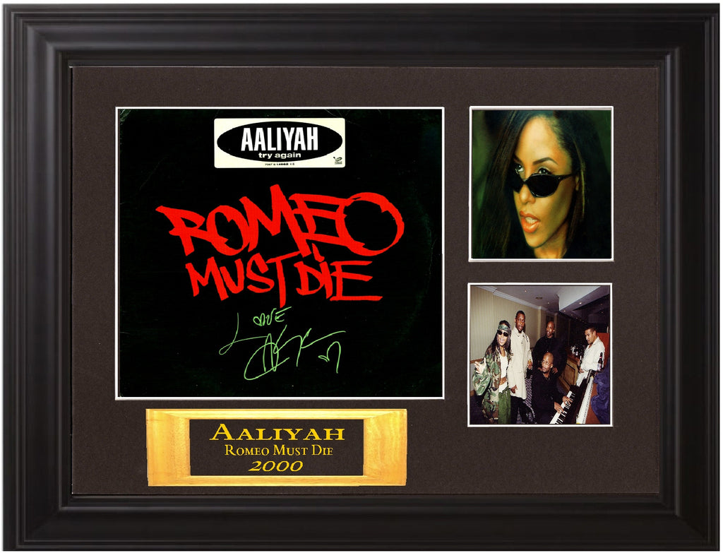 AAliyah Autographed lp - Zion Graphic Collectibles
