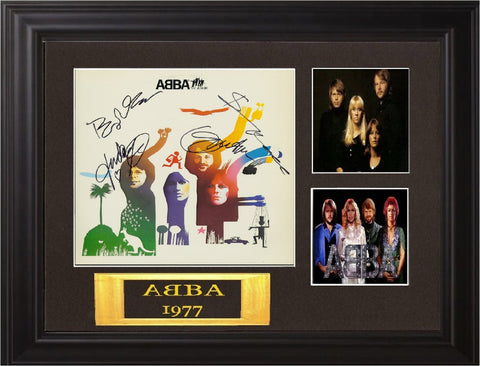 Abba Band Signed The Album Album