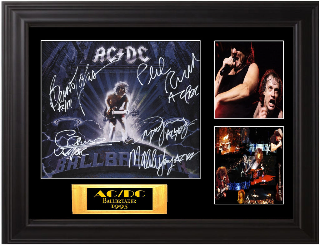 "AC/DC Autographed ""Ball Buster"" Lp - Zion Graphic Collectibles"