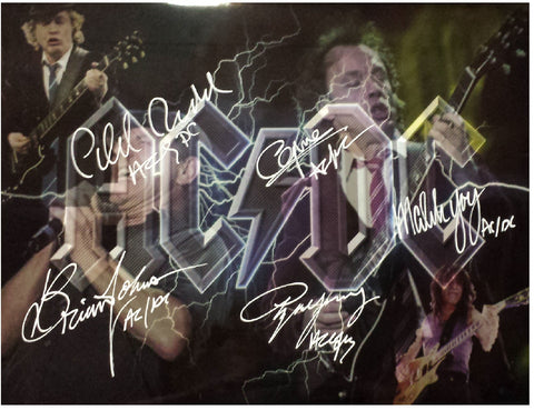 AC/DC Autographed Poster