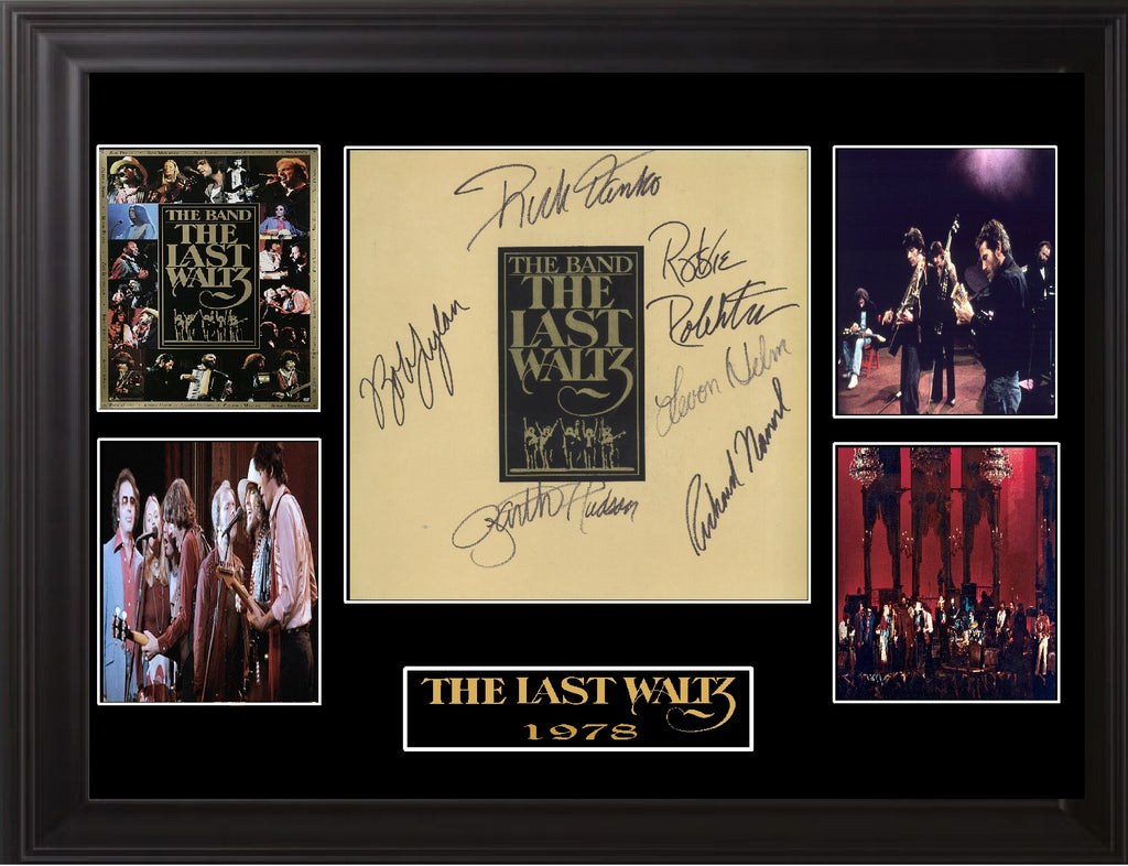 "The Band "" The Last Waltz "" Autographed LP - Zion Graphic Collectibles"