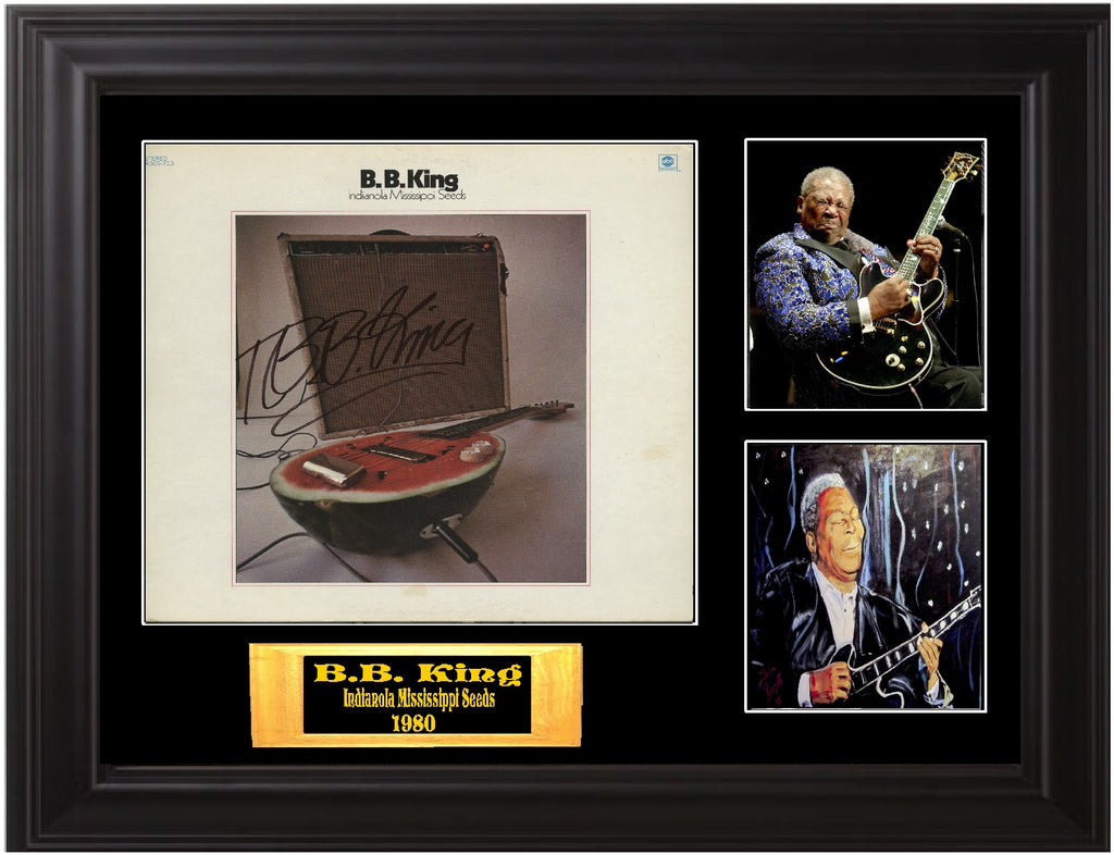 "B. B. King Autographed Lp ""Indianola Mississippi Seeds"" - Zion Graphic Collectibles"