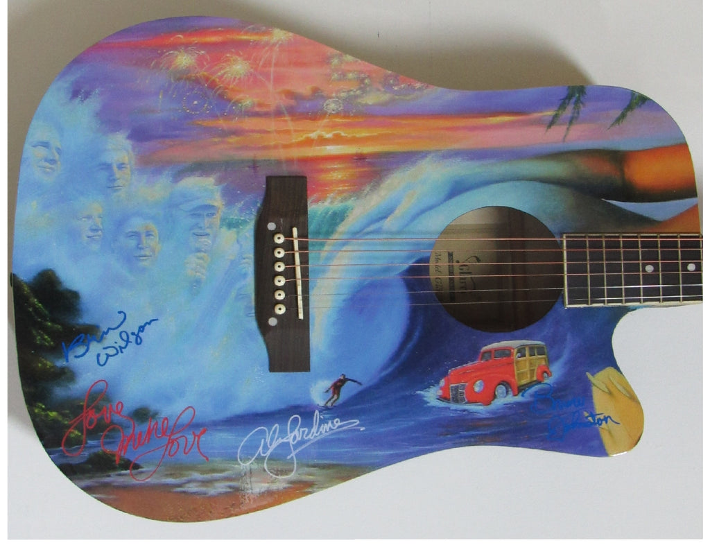 Beach Boys Autographed Guitar - Zion Graphic Collectibles