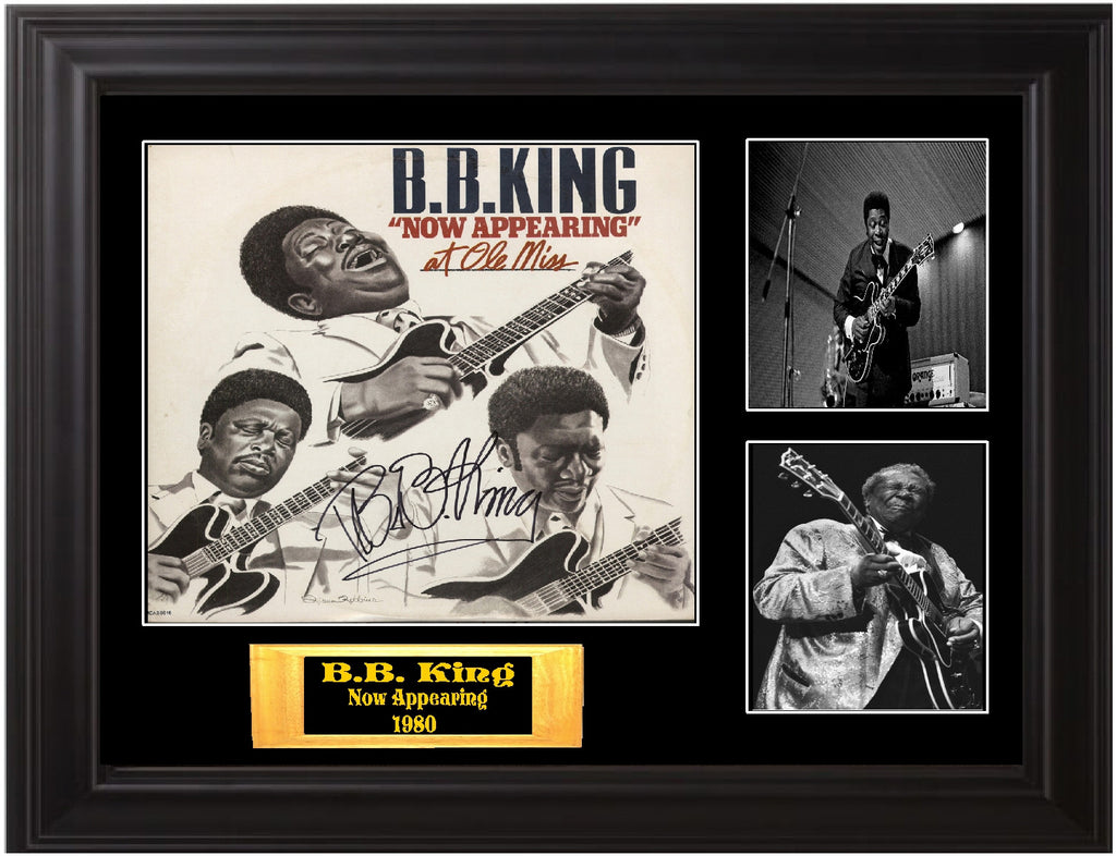 "B.B. King Autographed Lp ""Now Appearing"" - Zion Graphic Collectibles"