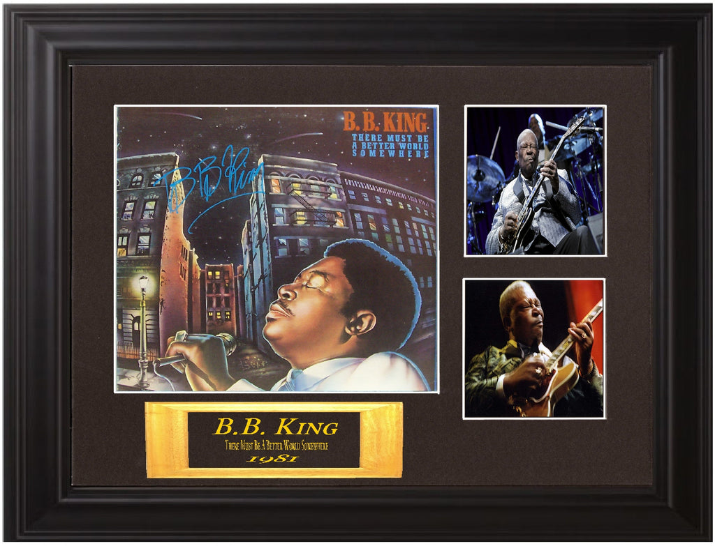 "B.B. King Autographed Lp ""There Must Be a Better World Somewhere"" - Zion Graphic Collectibles"