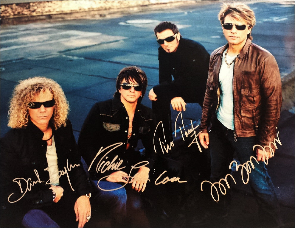 Bon Jovi Autographed Poster - Zion Graphic Collectibles