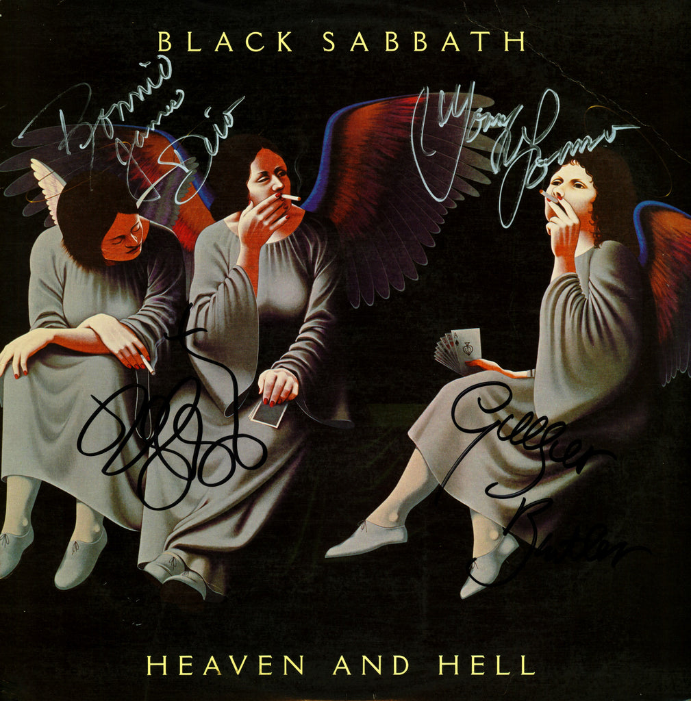 Black Sabbath Heven and Hell autographed lp - Zion Graphic Collectibles