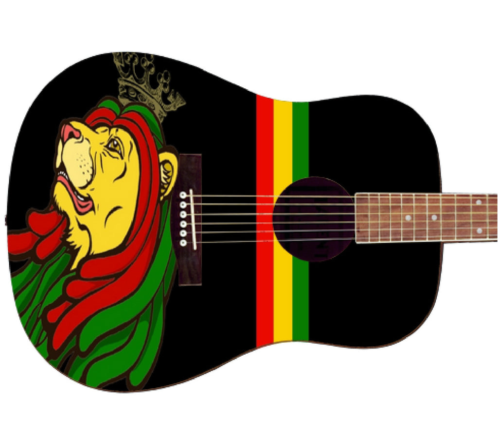 Bob Marley Custom Rasta Guitar - Zion Graphic Collectibles