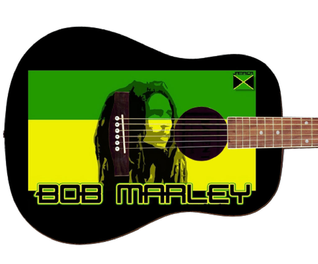 Bob Marley Custom Guitar - Zion Graphic Collectibles