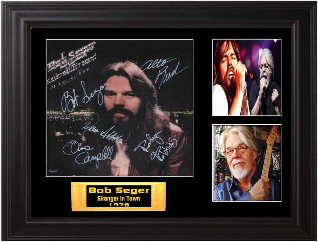 Bob Seger Autographed lp Stranger in Town - Zion Graphic Collectibles
