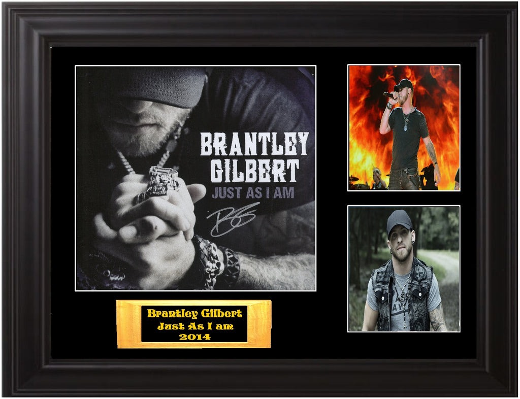 Brantley Gilbert Autographed LP Flat - Zion Graphic Collectibles