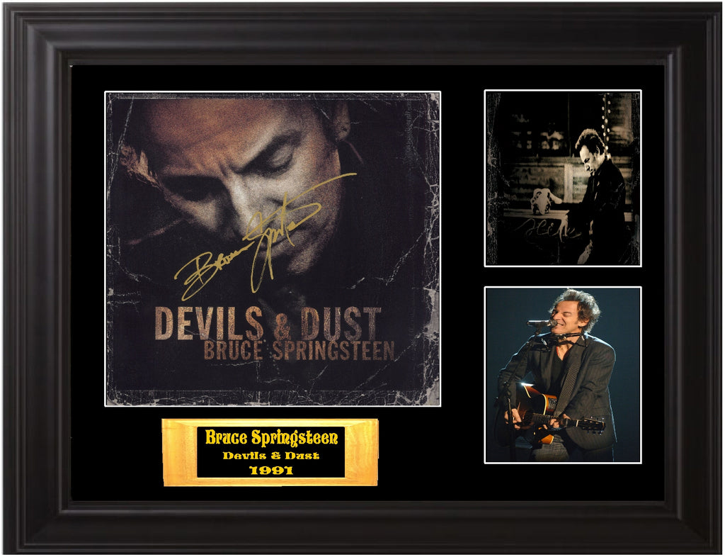 Bruce Springsteen Autographed LP Devils & Dust - Zion Graphic Collectibles