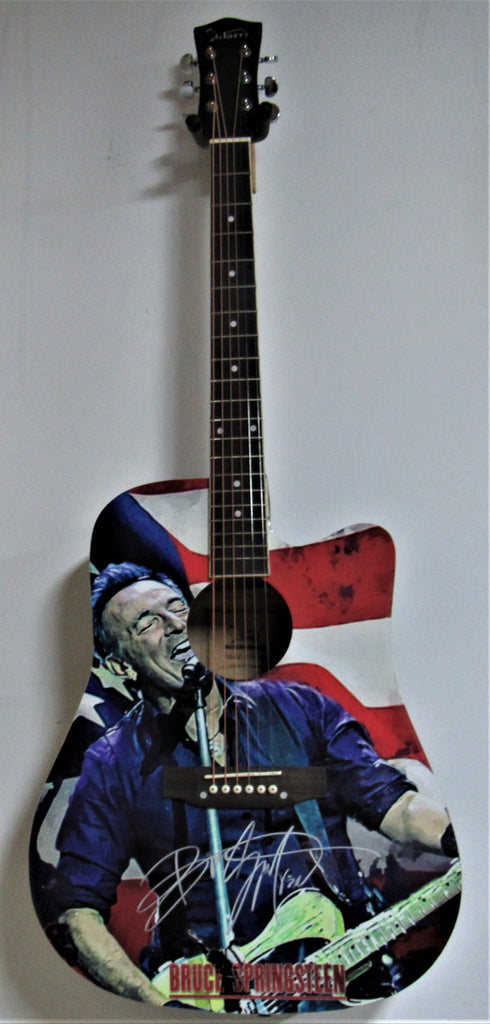 Bruce Springsteen Autographed Guitar - Zion Graphic Collectibles