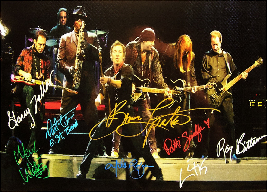 Bruce Springsteen & E. St. Band Autographed poster