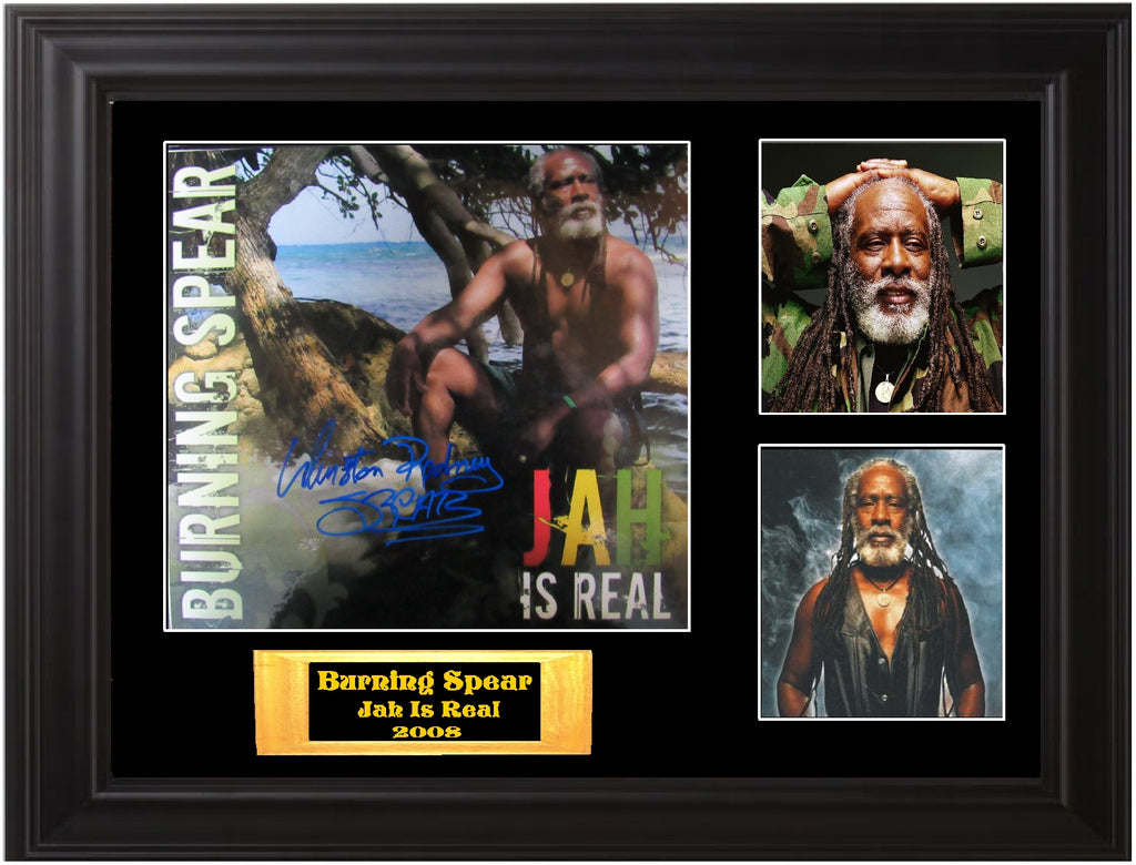 Burning Spear Autographed LP Flat - Zion Graphic Collectibles