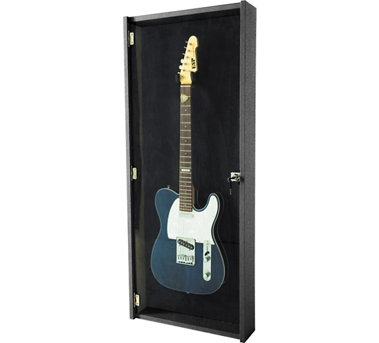 Electric Guitar Display Case Black - Zion Graphic Collectibles