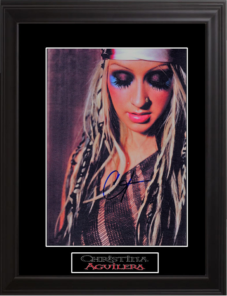 Christina Aguilera Autographed Photo - Zion Graphic Collectibles