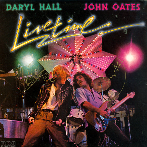 Daryl Hall John Oates Signed Livetime Album - Zion Graphic Collectibles