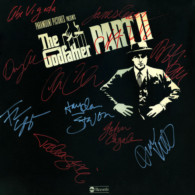 The Godfather Part II Cast Signed by 11 Movie Soundtrack